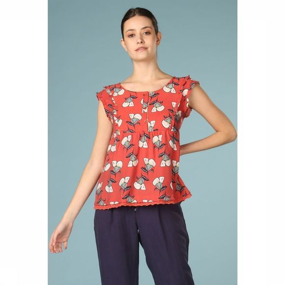 Orfeo Blouse Pandor Middenrood/Assortiment Bloem