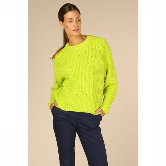 Co'Couture Trui Rise Knit Lichtgroen