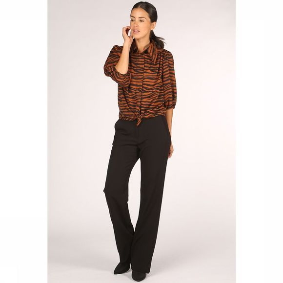 Co'Couture Blouse Java Tiger Puff Roest/Zwart