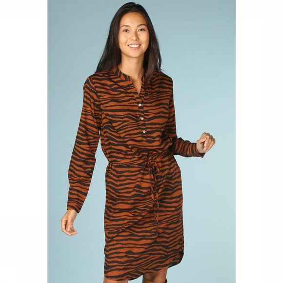 Co'Couture Robe Java Tiger Rouille/Noir