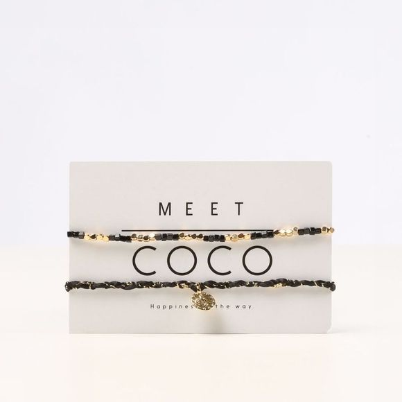 Meet Coco Armband Pack 6 Winter 19/24 Zwart/Goud