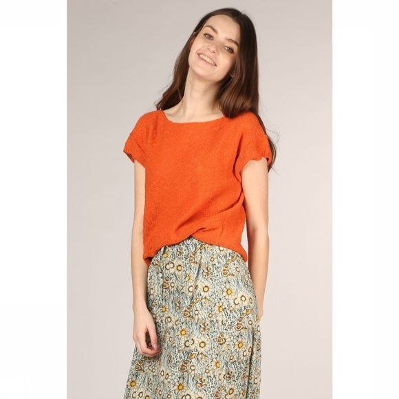 Nosho Pull T-Shirt Emma Rouge/Orange