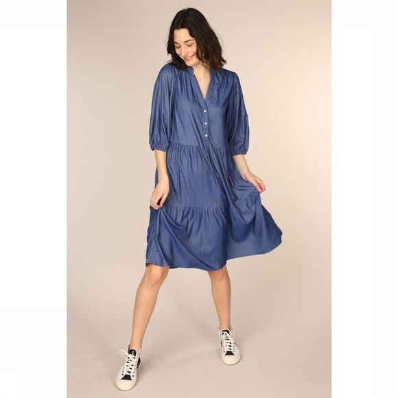 Co'Couture Robe Cream Denim Bleu Moyen