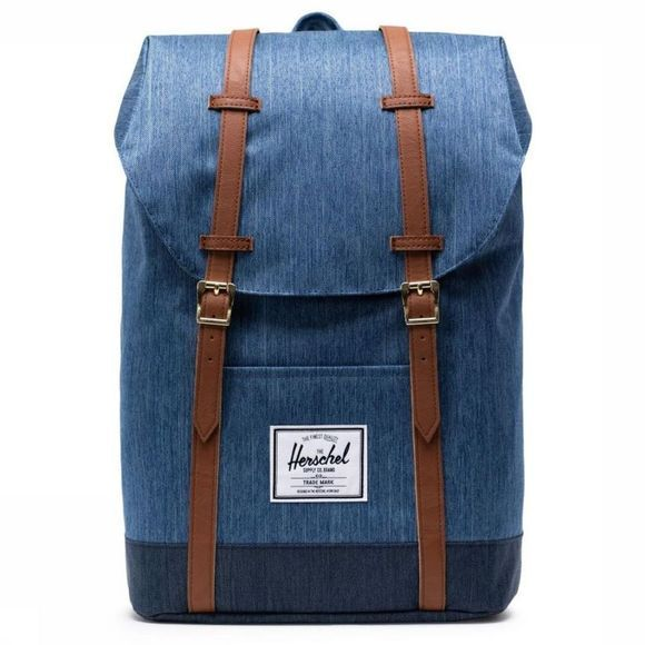 Herschel Supply Sac à Dos Retreat Bleu De Jeans/Brun