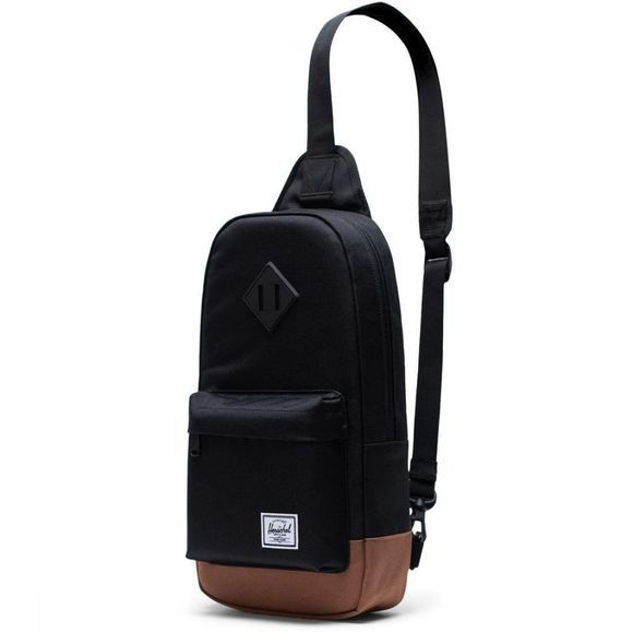Herschel Supply Schoudertas Heritage Shoulder Bag Zwart/Middenbruin