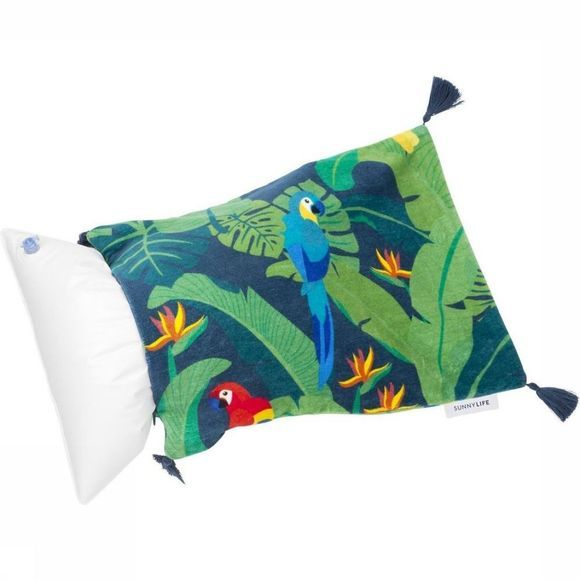 Sunnylife Divers Beach Pillow Vert Moyen/Assortiment Fleur