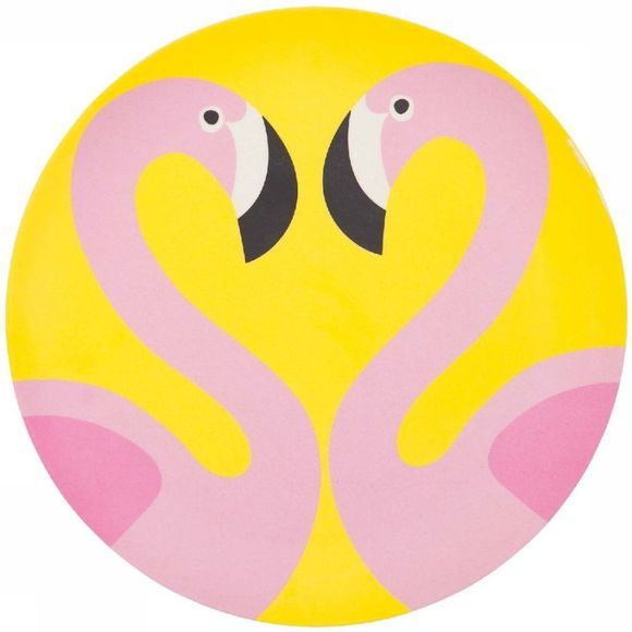 Sunnylife Gadget Eco Plate Large Flamingo Rose Clair/Jaune Moyen