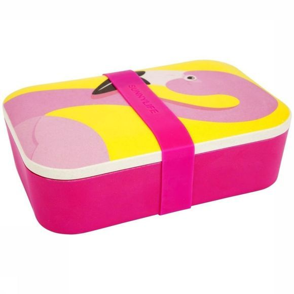 Sunnylife Gadget Eco Lunch Box Rose Clair/Jaune Moyen