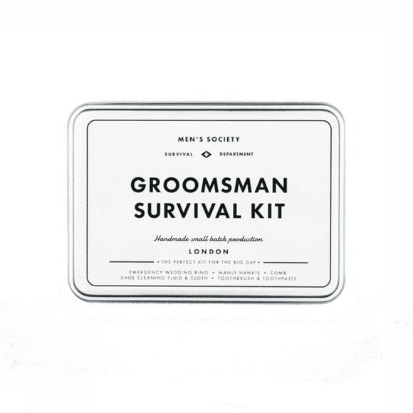 Men's Society Gadget Groomsman Survival Kit Blanc