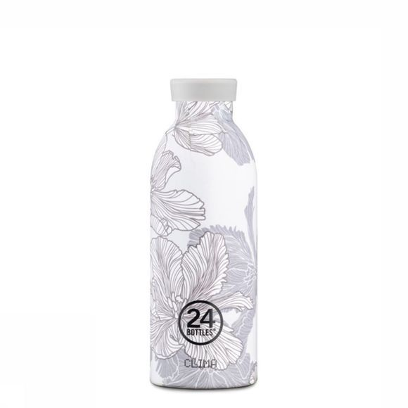 24Bottles Drinkfles Clima Tea Bottle 500ml Wit/Middengrijs