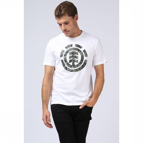 Element T-Shirt Bark Log Blanc