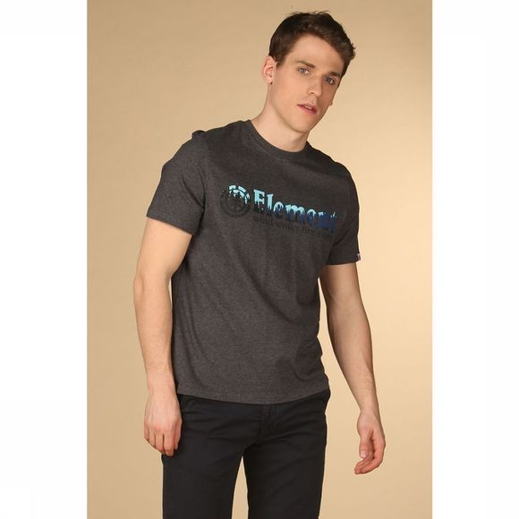 Element T-Shirt Glimpse Horizontal Donkergrijs Mengeling