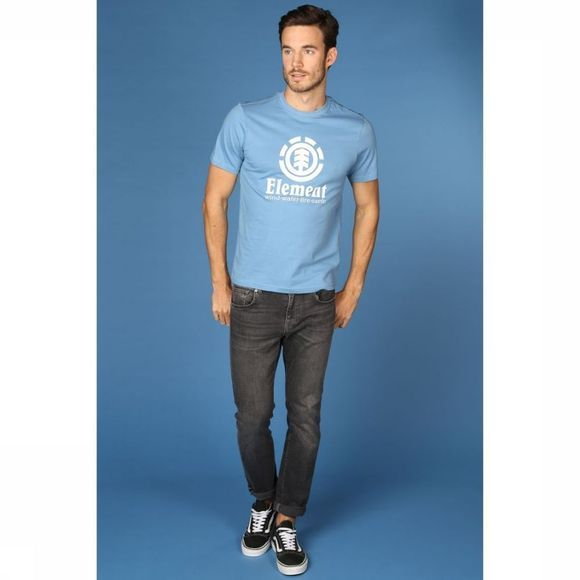 Element T-Shirt Vertical Middenblauw