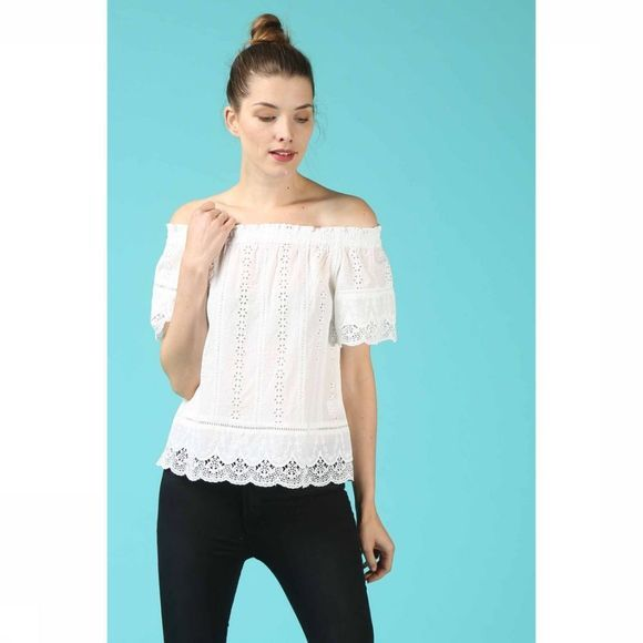 Grace&Mila Blouse Printemps Blanc