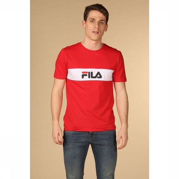 Fila T-Shirt Nolan Middenrood/Wit
