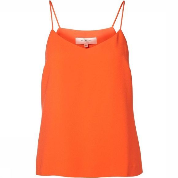 Selected T-Shirt New Smile Strap Oranje/Rood