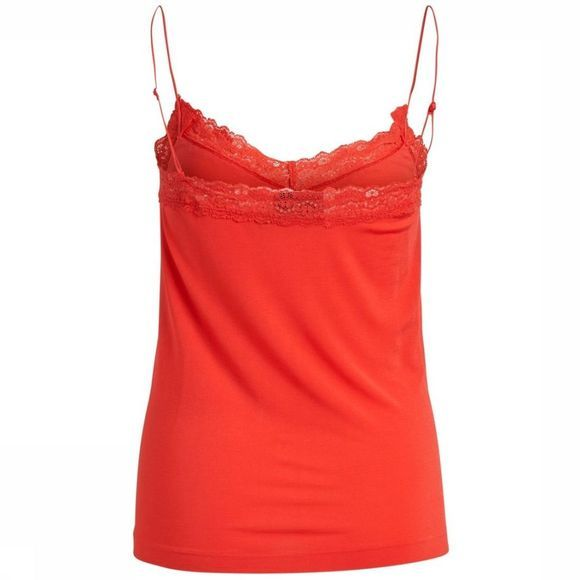 Object T-Shirt Leena Lace Rouge