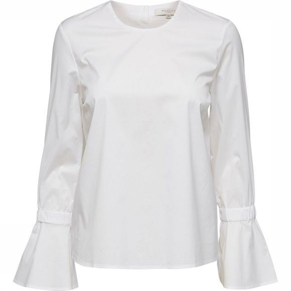 Selected Blouse Sf Balinna Ls Blanc Cassé