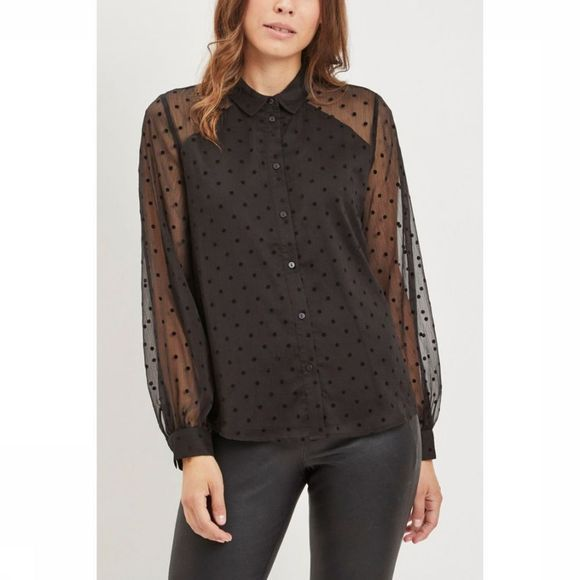 Object Blouse Dotty Ls Noir