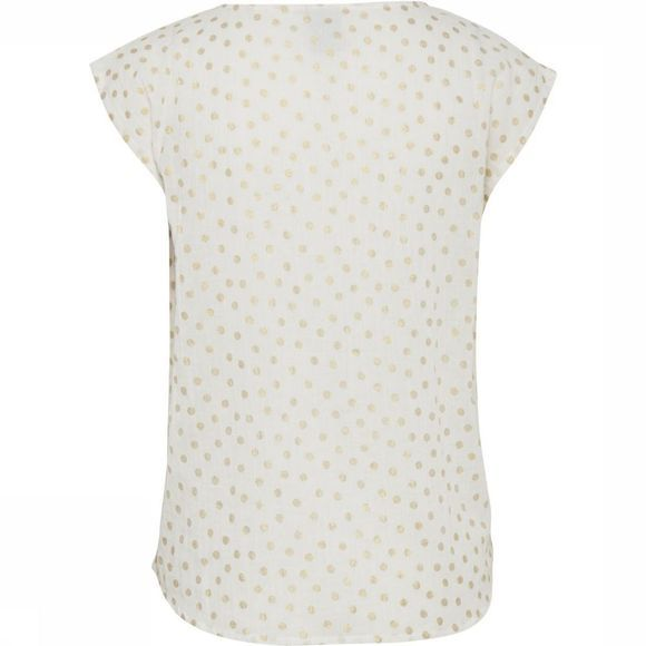 Ichi Blouse Anizu To Blanc Cassé/Or