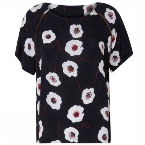 Blouse Top With Puffy Print