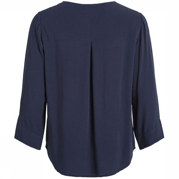 Object Blouse Bay 3/4 Donkerblauw