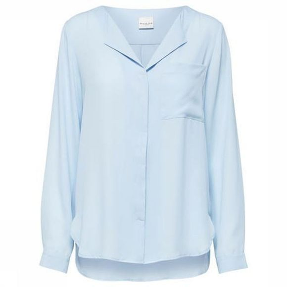 Selected Chemise Sf Dynella Ls Bleu Clair
