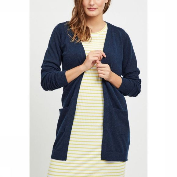 Object Cardigan  Thess Ls Noos Donkerblauw