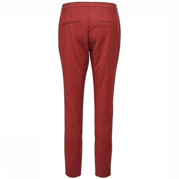 Selected Broek Sf Muse Cropped Mw Bordeaux