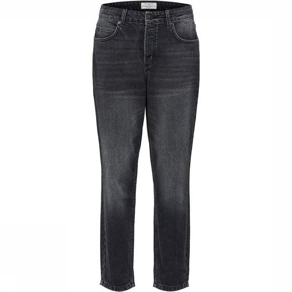 Selected Jeans Sf Frida Hr Mom Fade Black Noir