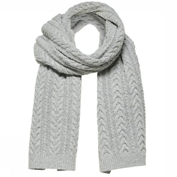 Selected Echarpe Carmi Knit Cable Gris Clair Mélange