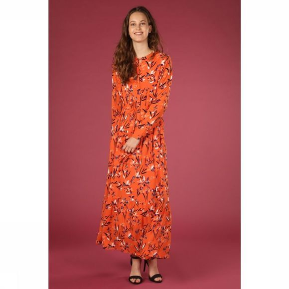 ARMEDANGELS Robe Deniaa Orange/Assortiment Fleur