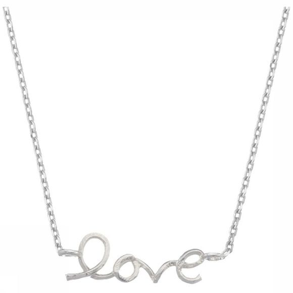 Estella Bartlett Ketting Love Word Zilver