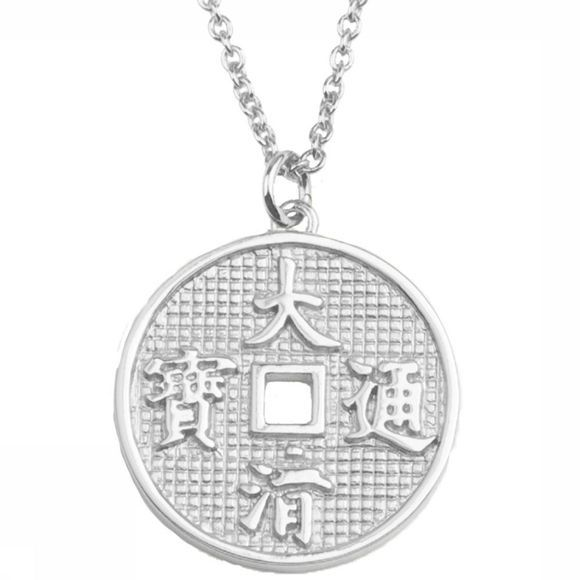 All The Luck In The World Collier East Lucky Coin Argent