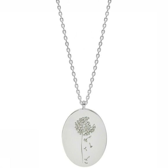 Estella Bartlett Collier Flower Engraved - Dandelion Argent