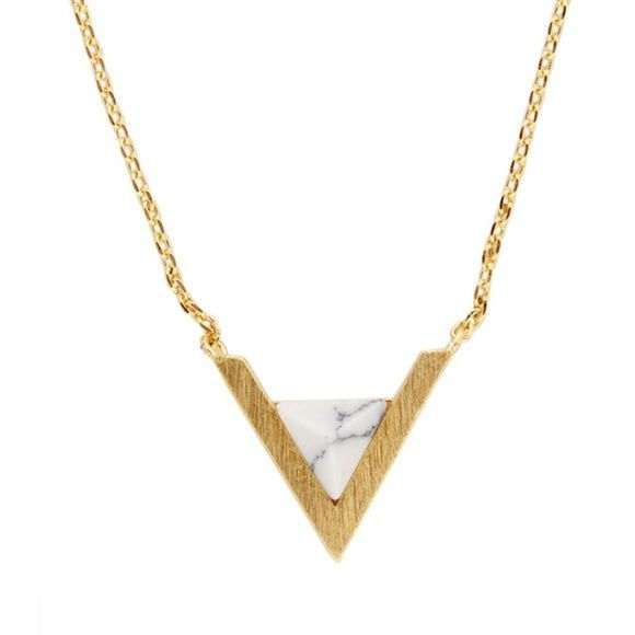 All The Luck In The World Collier Triangle A Blanc