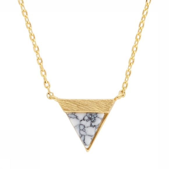 All The Luck In The World Collier Triangle B Blanc