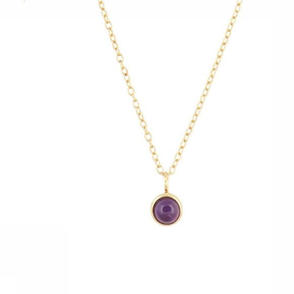 All The Luck In The World Ketting Purple Amethyst Goud
