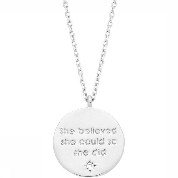 Estella Bartlett Ketting Engraved Disc Zilver