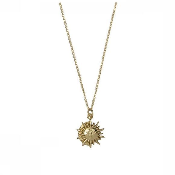 All The Luck In The World Ketting Charm Sun Circle Goud