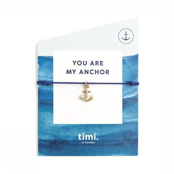 Timi Armband You Are My Anchor Stretch Goud