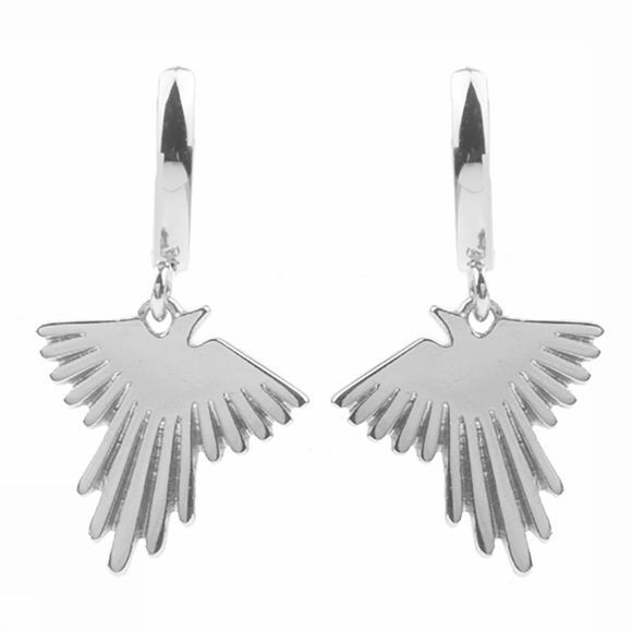 All The Luck In The World Boucle D'Oreille Souvenir Eagle Argent