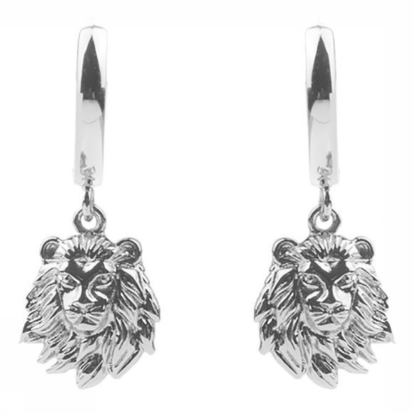 All The Luck In The World Boucle D'Oreille Souvenir Lion Argent