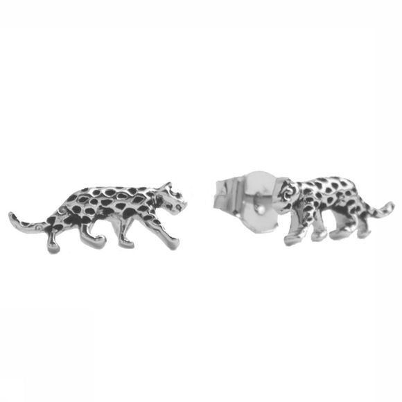 All The Luck In The World Boucle D'Oreille Parade Leopard Argent