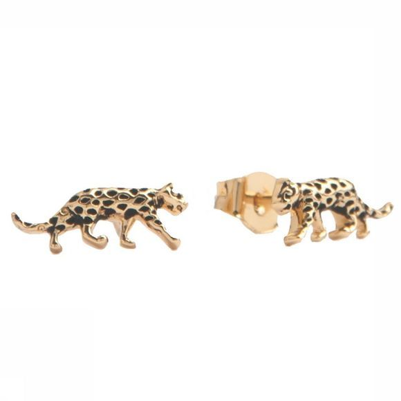 All The Luck In The World Boucle D'Oreille Parade Leopard Or
