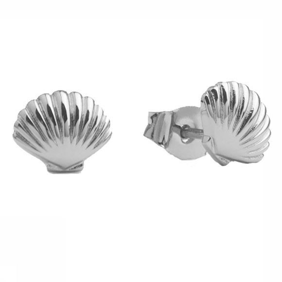 All The Luck In The World Boucle D'Oreille Parade Sea Shell Argent