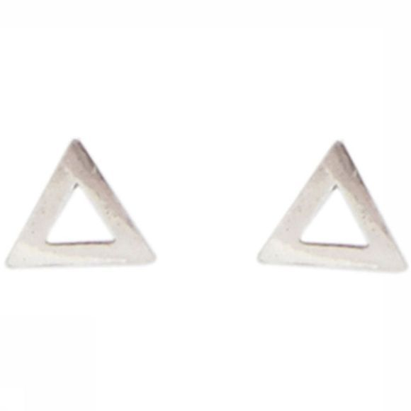 All The Luck In The World Boucle D'Oreille Triangle Argent
