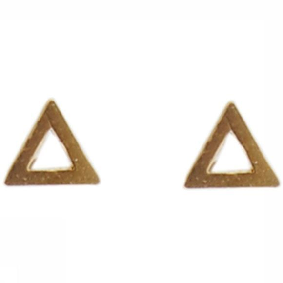 All The Luck In The World Boucle D'Oreille Triangle Or