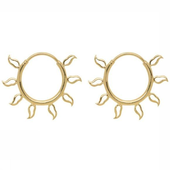Anna+Nina Boucle D'Oreille Multi Flame Medium Or