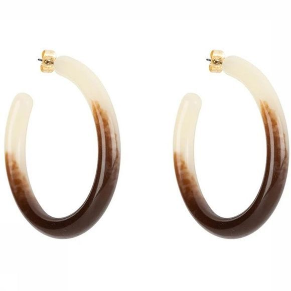Club Manhattan Boucle D'Oreille The Ombre Hoops Brun moyen
